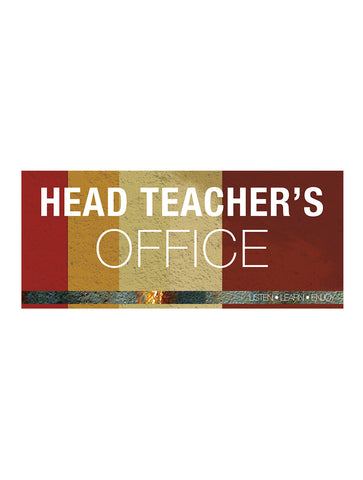 Industrial - Head Teacher Sign