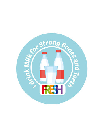 School Meals Stickers - Milk
