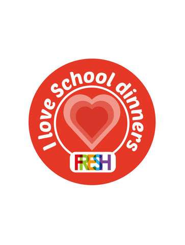 School Meals Stickers - I love school dinners