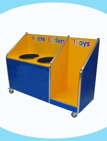 Juniors - Double Recycle Unit - 2 x 20ltr Bin - with Tray Return