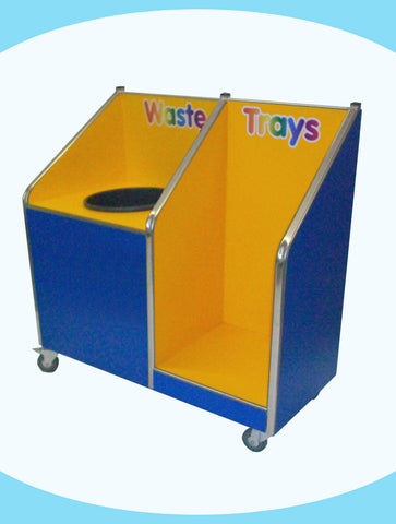 Juniors - Single Recycle Unit - 20ltr Bin - with Tray Return