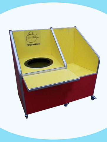 Juniors - Single Recycle Unit - 72ltr Bin - with Tray Return