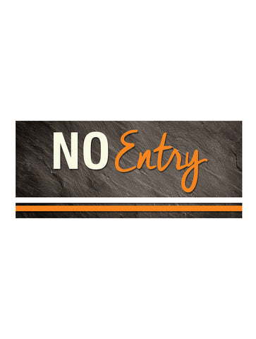 Graphite - No Entry Sign