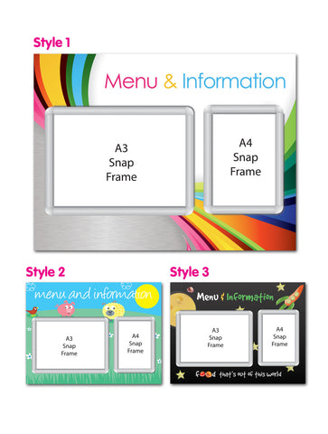 Primary 800x600mm A4 & A3 Multi-frame Menu Board