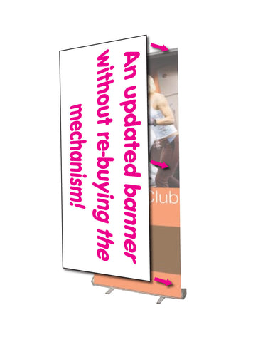 Economy Roll Up Banner - Replacement Graphic