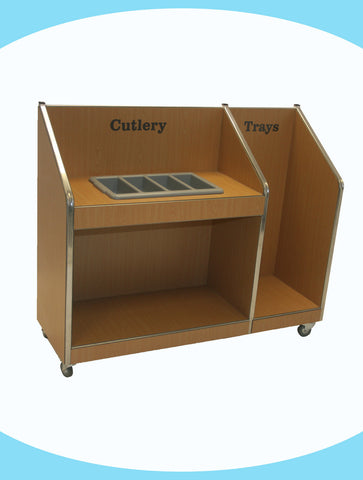 Senior Mobile Cutlery Unit with tray return