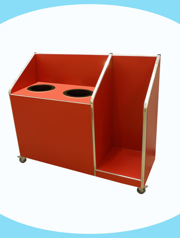 Seniors - Double Recycle Unit - 2 x 118ltr Bin with Tray Return