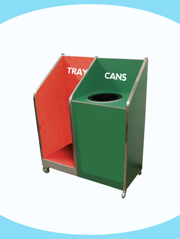 Seniors - Single Recycle Unit - 118ltr Bin - with Tray Return