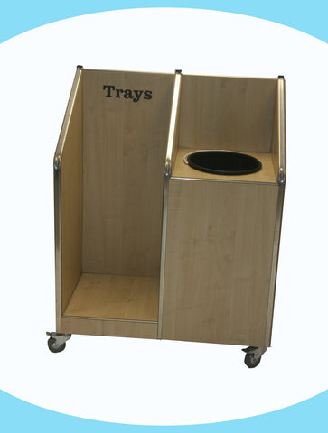 Seniors - Single Recycle Unit - 20ltr Bin - with Tray Return