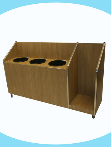 Seniors - Triple Recycle Unit - 3 x 20ltr Bin with Tray Return