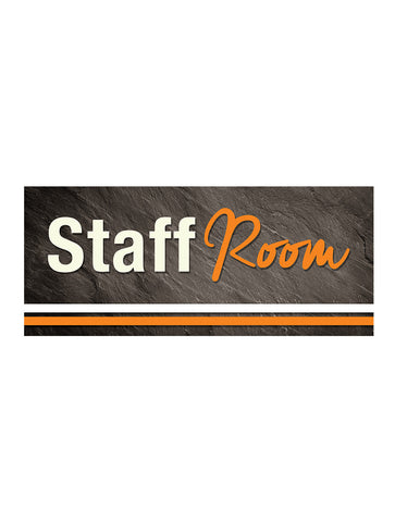 Graphite - Staff Room Sign