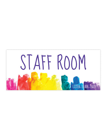 Bright and Beautiful - Staff Room Sign