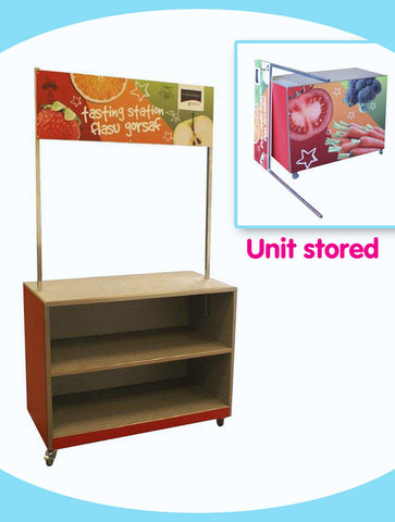 Mobile Tasting Station with Removable Banner