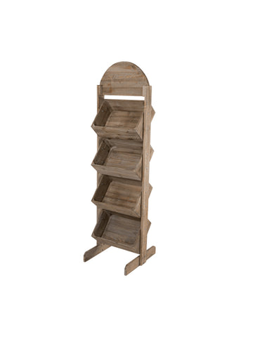 Rustic Crate Display Stand