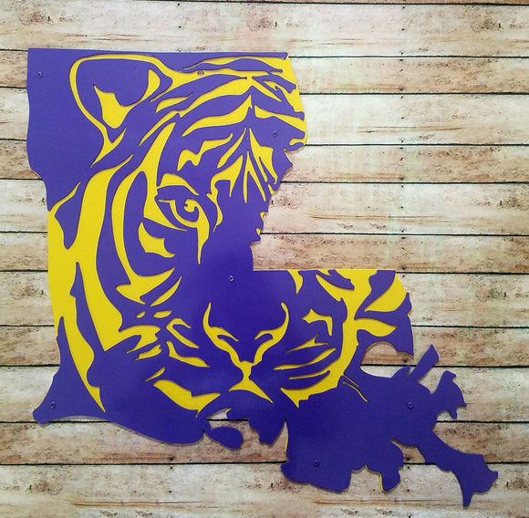 La Tiger Metal Sign