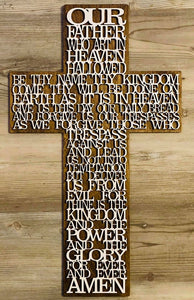 The Lord's Prayer Wooden Cross