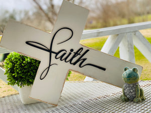"15"" Wooded Faith Cross"