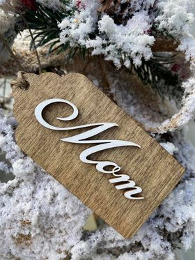 Wood Stocking/Gift Box Tag