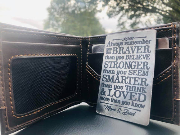 Inspirational Wallet Insert
