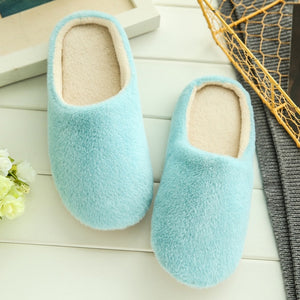 Slippers women 2018 interior house plush soft cute cotton Slippers Shoes non-slip floor furry Slippers women Shoes for bedroom