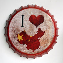 Load image into Gallery viewer, creative iron beer bottle cap artcrafts retro stickers wall decoration vintage bar coffee shop home decoration accessories