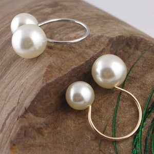 Women's Ring Street Pearl Ring Size Adjustable