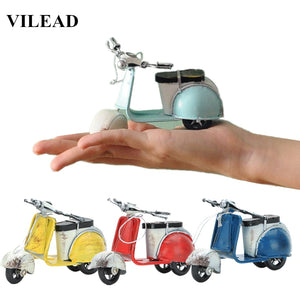 VILEAD American Style Little Sheep Iron Motor Figurines Vintage Home Decor Motorcycle Souvenirs Christmas Decorations for Home