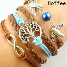 Load image into Gallery viewer, Handmade Bird Bracelet Multilayer Leather Infinity Bracelets Jewelry Braid Bracelets