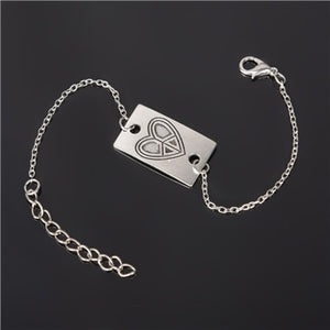 Simple Style Silver Plated Charm Bracelet