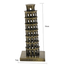 Load image into Gallery viewer, ERMAKOVA Metal Architecture Figurine World Famous Landmark Building Souvenir Statue Home Office Desktop Decor Christmas Gift