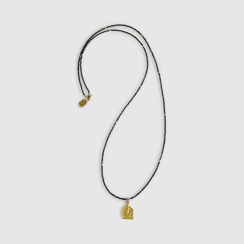 Uwazi Long Necklace With Pendant [ cats eye ]