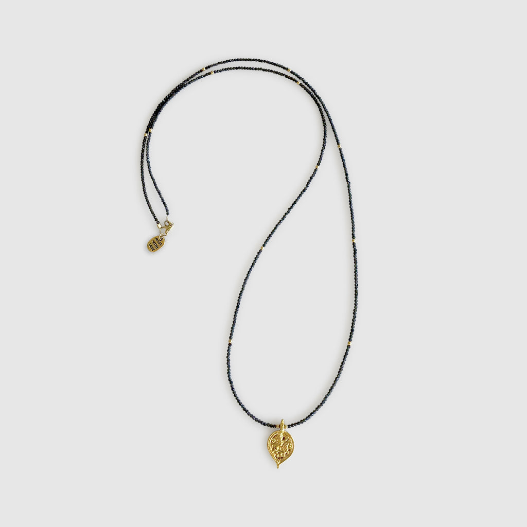Uwazi Long Necklace With Teardrop [ cats eye ]