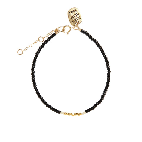 Endito Bracelet - BLACK/GOLD/CREAM