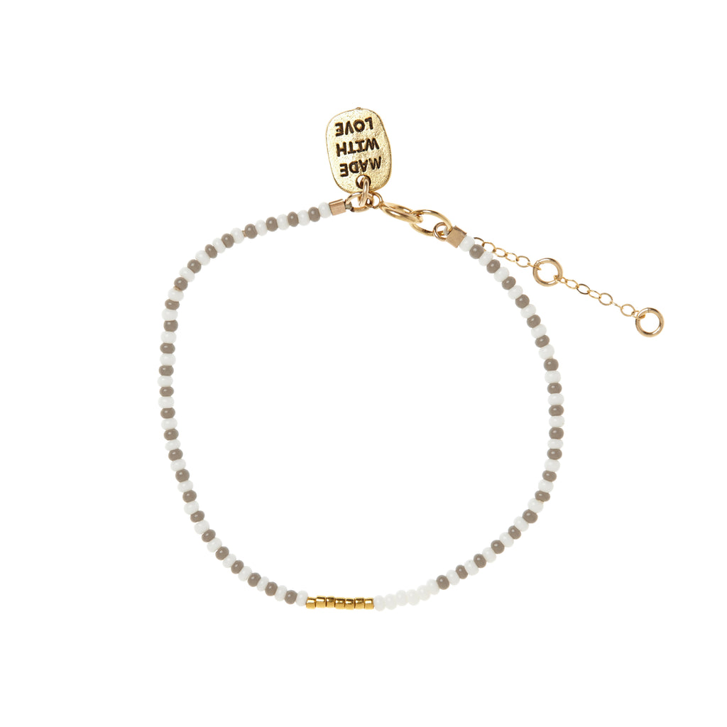 Endito Bracelet - GREY/WHITE/GOLD
