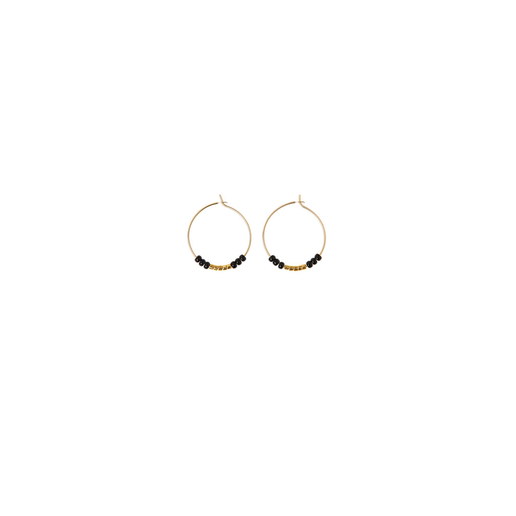 XS Hoop Earrings - BLACK