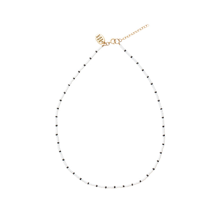 Short Endito Necklace - WHITE/BLACK