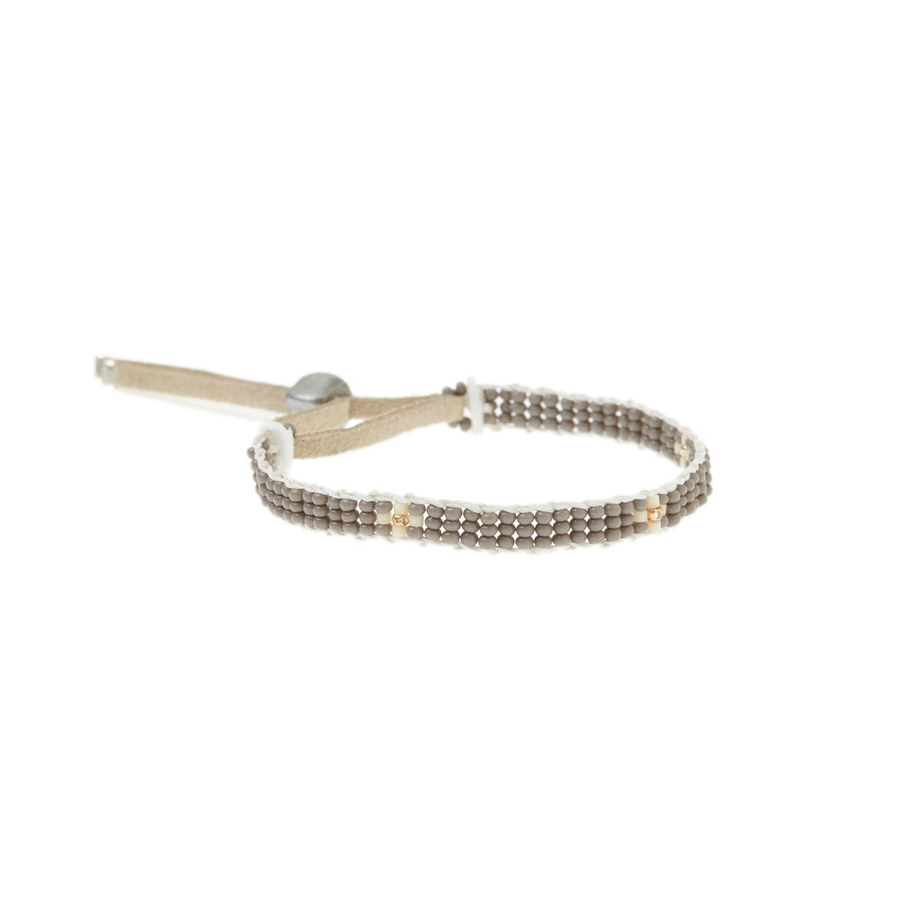 XS Cross Warrior Bracelet - GREY/CREAM/GOLD