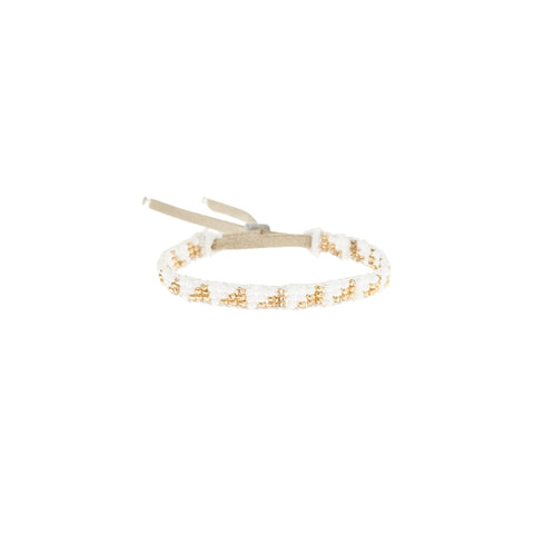 XS Triangle Warrior Bracelet - WHITE/GOLD