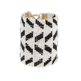 Extra Wide Chevron Warrior - WHITE/BLACK/GOLD
