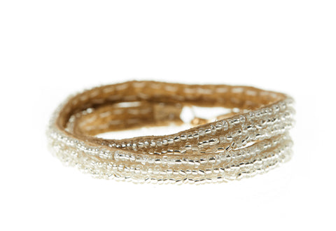 Simple XS Double Wrap Bracelet - SILVER