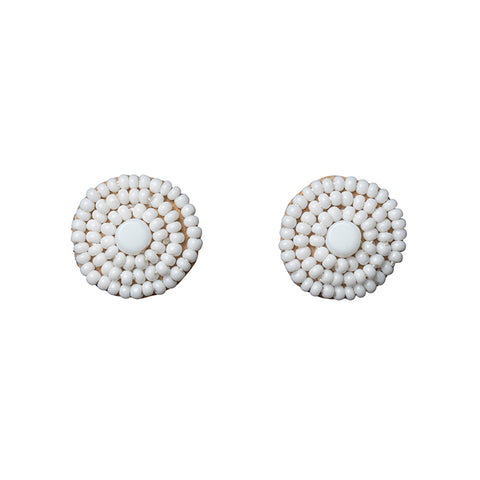 Kifungo Earrings - WHITE