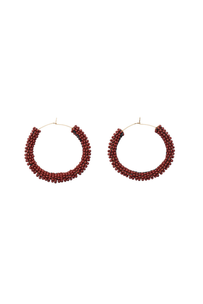 Jongoo Earrings - BURGUNDY