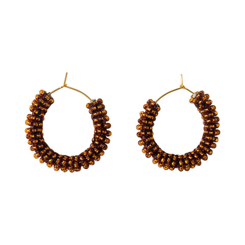 Small Jongoo Earrings - SHINY TAN