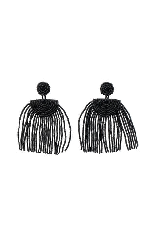 Kifungo Short Tassel Earrings - BLACK
