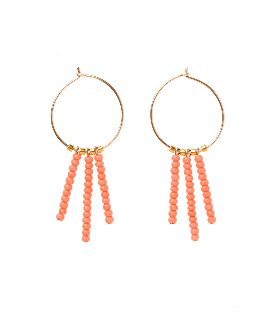 3 Drop XS Hoop Earring - SALMON