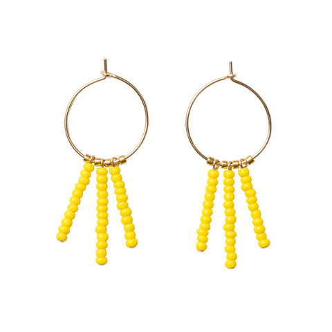 3 Drop XS Hoop Earring - YELLOW