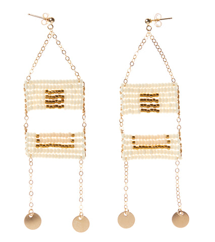 Samburu Earring - OFF WHITE/PINK