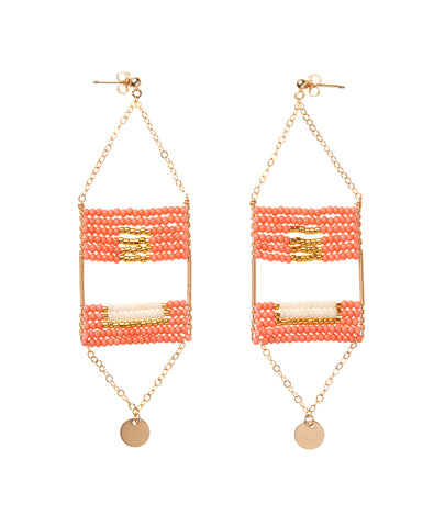 Samburu Earring - SALMON