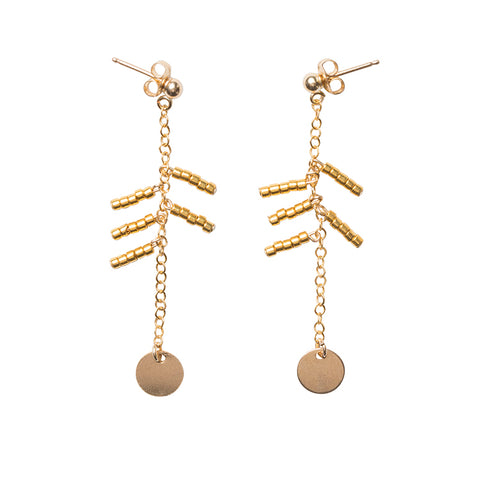 5 Drop Earrings with Shillinigini - GOLD