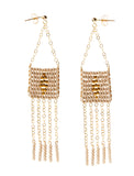 Diamond Pendant 5 Tassel Earring